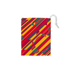 Colorful Hot Pattern Drawstring Pouches (xs)  by Valentinaart