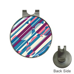 Blue And Pink Pattern Hat Clips With Golf Markers by Valentinaart