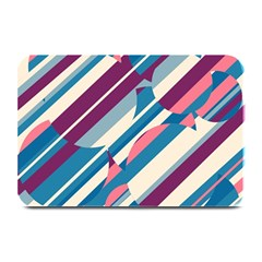 Blue And Pink Pattern Plate Mats by Valentinaart