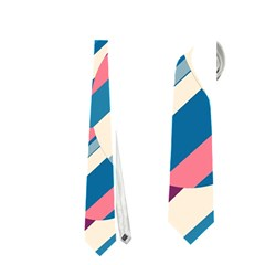 Blue And Pink Pattern Neckties (two Side)  by Valentinaart