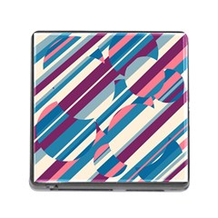 Blue And Pink Pattern Memory Card Reader (square) by Valentinaart