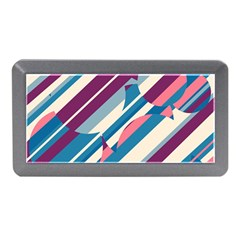 Blue And Pink Pattern Memory Card Reader (mini) by Valentinaart