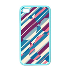 Blue And Pink Pattern Apple Iphone 4 Case (color) by Valentinaart