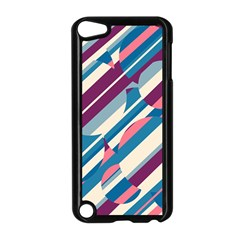 Blue And Pink Pattern Apple Ipod Touch 5 Case (black) by Valentinaart