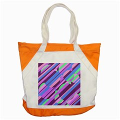 Pink, Purple And Green Pattern Accent Tote Bag by Valentinaart