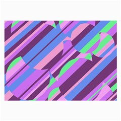 Pink, Purple And Green Pattern Large Glasses Cloth by Valentinaart