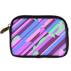 Pink, Purple And Green Pattern Digital Camera Cases by Valentinaart