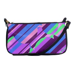Pink, Purple And Green Pattern Shoulder Clutch Bags by Valentinaart