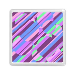 Pink, Purple And Green Pattern Memory Card Reader (square)  by Valentinaart