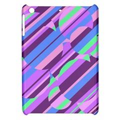 Pink, Purple And Green Pattern Apple Ipad Mini Hardshell Case by Valentinaart