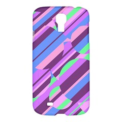 Pink, Purple And Green Pattern Samsung Galaxy S4 I9500/i9505 Hardshell Case by Valentinaart