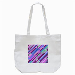 Pink, Purple And Green Pattern Tote Bag (white) by Valentinaart