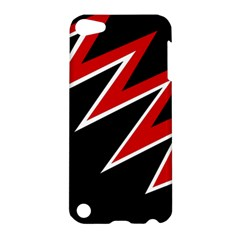 Black And Red Simple Design Apple Ipod Touch 5 Hardshell Case by Valentinaart