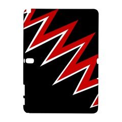Black And Red Simple Design Samsung Galaxy Note 10 1 (p600) Hardshell Case by Valentinaart