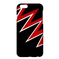 Black And Red Simple Design Apple Iphone 6 Plus/6s Plus Hardshell Case by Valentinaart