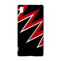 Black And Red Simple Design Sony Xperia Z3+ by Valentinaart