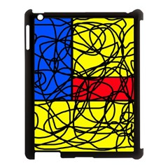 Yellow Abstract Pattern Apple Ipad 3/4 Case (black) by Valentinaart