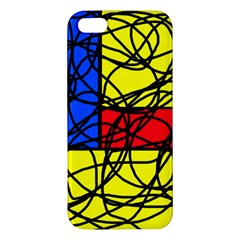 Yellow abstract pattern Apple iPhone 5 Premium Hardshell Case by Valentinaart