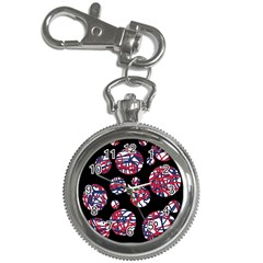 Colorful Decorative Pattern Key Chain Watches by Valentinaart