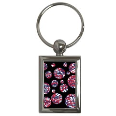 Colorful Decorative Pattern Key Chains (rectangle)  by Valentinaart