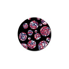 Colorful Decorative Pattern Golf Ball Marker (10 Pack) by Valentinaart