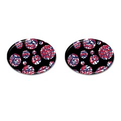 Colorful Decorative Pattern Cufflinks (oval) by Valentinaart
