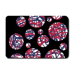 Colorful Decorative Pattern Small Doormat  by Valentinaart