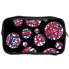 Colorful Decorative Pattern Toiletries Bags by Valentinaart