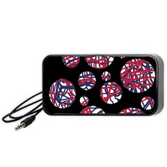 Colorful decorative pattern Portable Speaker (Black)  by Valentinaart