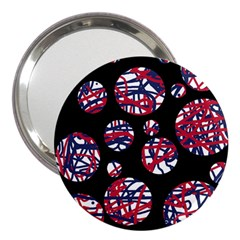 Colorful Decorative Pattern 3  Handbag Mirrors by Valentinaart