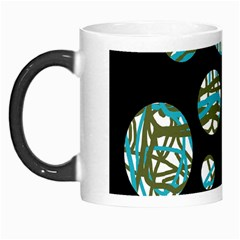 Decorative Blue Abstract Design Morph Mugs by Valentinaart