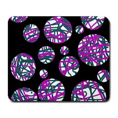 Purple Decorative Design Large Mousepads by Valentinaart