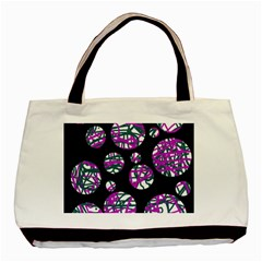 Purple Decorative Design Basic Tote Bag by Valentinaart