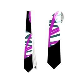 Purple Decorative Design Neckties (one Side)  by Valentinaart