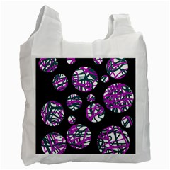 Purple Decorative Design Recycle Bag (one Side) by Valentinaart