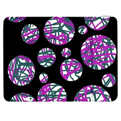 Purple Decorative Design Samsung Galaxy Tab 7  P1000 Flip Case by Valentinaart