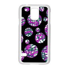 Purple Decorative Design Samsung Galaxy S5 Case (white) by Valentinaart