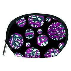 Purple Decorative Design Accessory Pouches (medium)