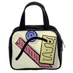 Decorative Abstraction Classic Handbags (2 Sides) by Valentinaart