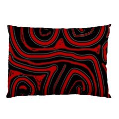 Red and black abstraction Pillow Case by Valentinaart