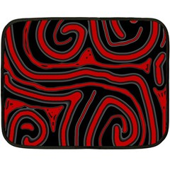 Red And Black Abstraction Double Sided Fleece Blanket (mini)  by Valentinaart