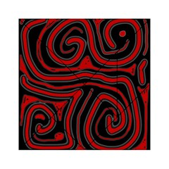 Red And Black Abstraction Acrylic Tangram Puzzle (6  X 6 ) by Valentinaart
