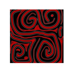 Red And Black Abstraction Small Satin Scarf (square) by Valentinaart