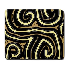 Brown Elegant Abstraction Large Mousepads by Valentinaart