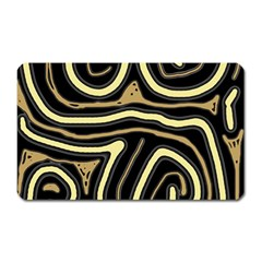 Brown Elegant Abstraction Magnet (rectangular) by Valentinaart
