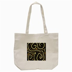Brown Elegant Abstraction Tote Bag (cream) by Valentinaart