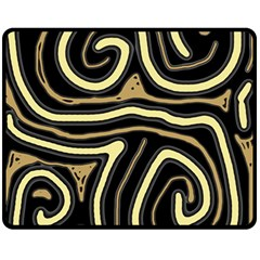 Brown Elegant Abstraction Fleece Blanket (medium)  by Valentinaart