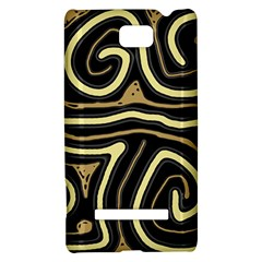 Brown elegant abstraction HTC 8S Hardshell Case