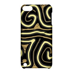 Brown Elegant Abstraction Apple Ipod Touch 5 Hardshell Case With Stand by Valentinaart