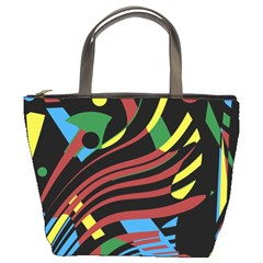 Colorful decorative abstrat design Bucket Bags